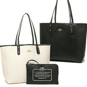 Authentic Reversible Coach Tote Bag